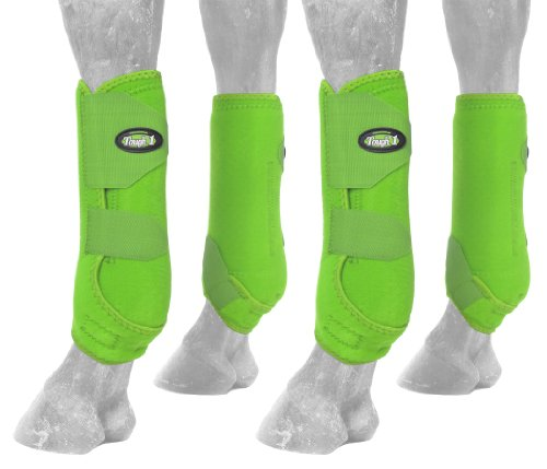 Tough 1 Extreme Vented Sport Boots Set, Neon Green, Large by Tough 1