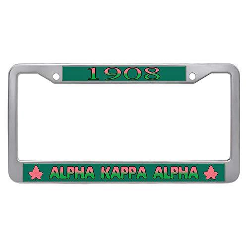 - ToMizefu Alpha Kappa Alpha License Plate Frame Holder, AKA Sorority Stainless Steel Car License Plate