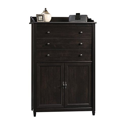 Sauder Edge Water Smartcenter Secretary Estate, Black by Sauder