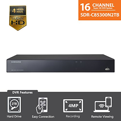 Samsung 16 Channel Super HD 4 MP Security DVR with 2TB Hard Drive (Dvr System)