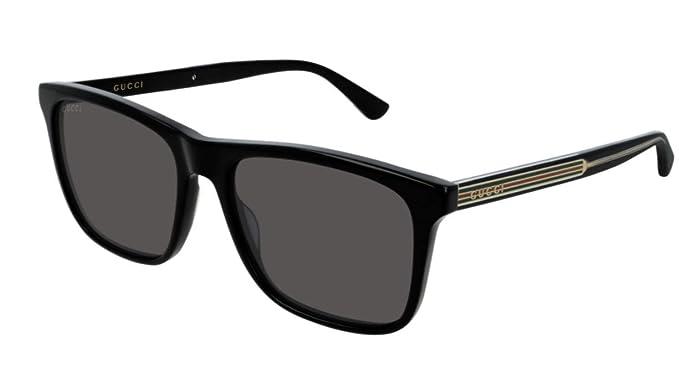 82af2bbb8c4 Gucci Damen Sonnenbrille Schwarz Schwarz 57  Amazon.de  Bekleidung