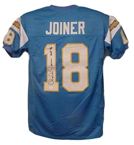 Joiner Autographed San Diego Chargers - Charlie Joiner Autographed San Diego Chargers Blue XL Jersey HOF 96 JSA