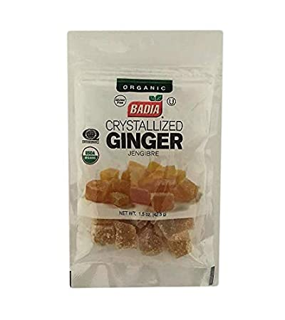 Amazon com : 2 Bags Organic Ginger Crystallized Candied