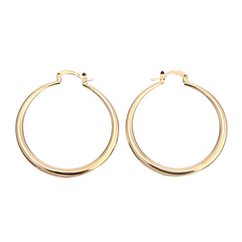 Followmoon 18K Gold Plated Women's Hoop Earrings