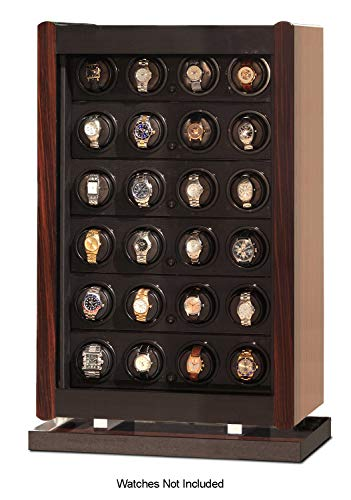 - Orbita W70012 Avanti 24 Programmable Watch Winder Storage, Macassar Wood