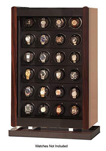 Orbita W70012 Avanti 24 Programmable Watch Winder Storage, Macassar Wood ()