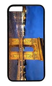 MOKSHOP Adorable arc de triomphe paris Hard Case Protective Shell Cell Phone Cover For Apple Iphone 6 (4.7 Inch) - PC Black