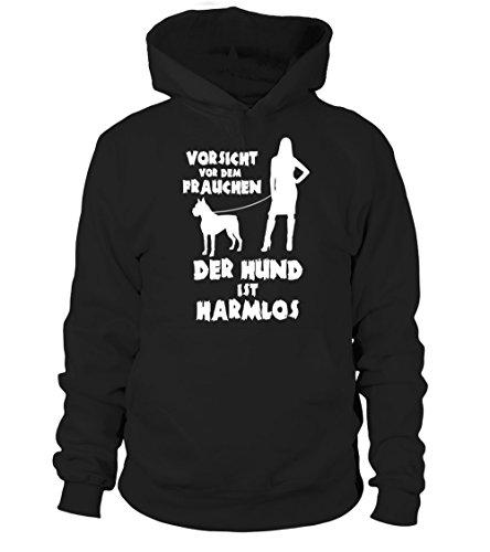 IchLiebeHunde.com - Sudadera con capucha - para mujer negro S