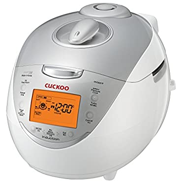 Cuckoo CRP-HV0667F IH Pressure Rice Cooker, 6 Cup, Silver
