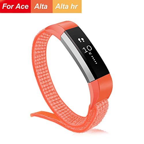 VEAQEE Compatible Fitbit Alta Nylon Bands, Kids Women Man Soft Nylon Breathable Watch Strap,Quick Release Replacement Wristband Accessories Compatible Fitbit Alta HR/Ace
