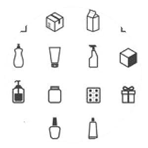 alfombrilla de ratón iconos de embalaje - ronda - 20cm