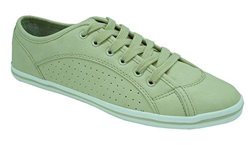 Buffalo London 507-V9987 TUMBLE PU 144388 Damen Sneaker, beige (BEIGE 356), EU 41
