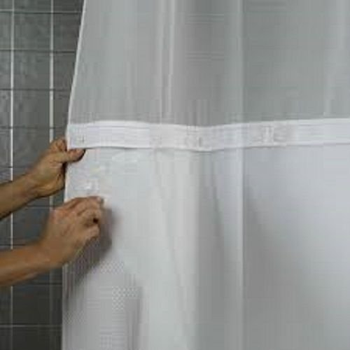 Hookless PEVA Snap Liner White Bathroom Liners Bath Fabric Polyester Home 70x54 Shower - Shopping Outlet Macy's Online