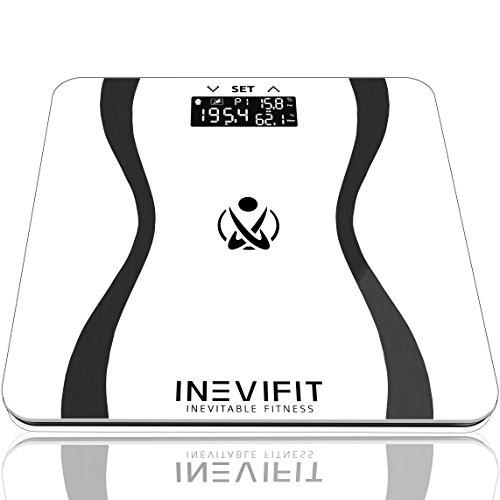 INEVIFIT Body-Analyzer Scale, Highly Accurate Digital Bathroom Body Composition Analyzer, Measures Weight, Body Fat, Water, Muscle & Bone Mass for 10 Users. Includes a 5-Year Warranty - Measure Body Fat Composition