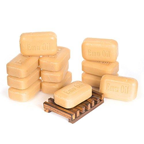 SOAP WORKS Emu Oil Soap Bar, 12 Count