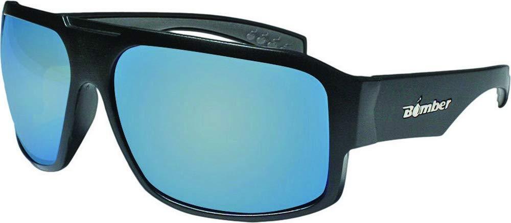 Bomber Mega Bomb Safety Floating Sunglasses Matte Black/Ice Mirror Lens (Black, OSFM)