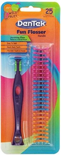 Dentek Kids Disposable Floss Heads Plus Handle, Wild Fruit, 25 Count (Pack of 6)
