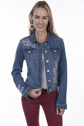 Co Embroidered Denim Jacket - 4