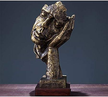 Escultura Estatuas Arte Cara Humana Resina Abstracta Salón Vinoteca Decoración de Escritorio Oficina Adornos pequeños Creativo Personalidad Moderna Hogar Decorativas
