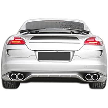 2010-2013 Porsche Panamera Eros Version 1 Rear Lip Under Spoiler Air Dam - 1 Piece