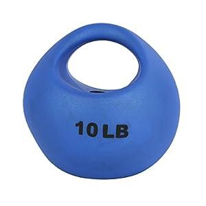 CanDo 10-3294 One Handle Medicine Ball, 10 lb, Blue