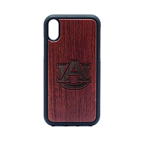 AU Auburn University - iPhone XR CASE - Rosewood Premium Slim & Lightweight Traveler Wooden Protective Phone CASE - Unique, Stylish & ECO-Friendly - Designed for iPhone XR ()