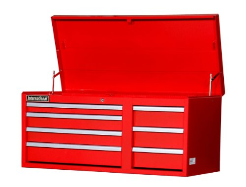 SPG International WRT-4207RD 42-Inch 7 Drawer Top Chest, Red