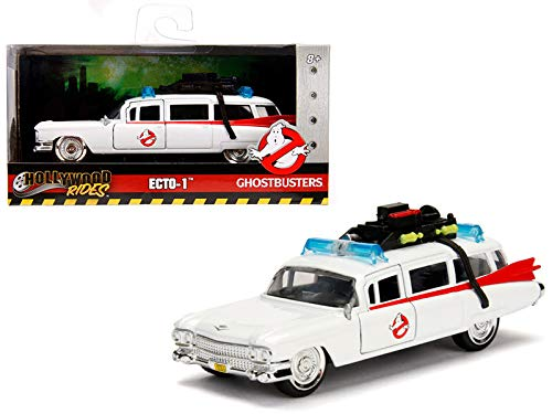 StarSun Depot 1959 Cadillac Ambulance Ecto-1 from Ghostbusters Movie Hollywood Rides Series 1/32 Diecast Model Car Jada ()
