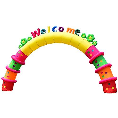 Amazon.com: Arco hinchable inflable Rainbow publicidad arco ...