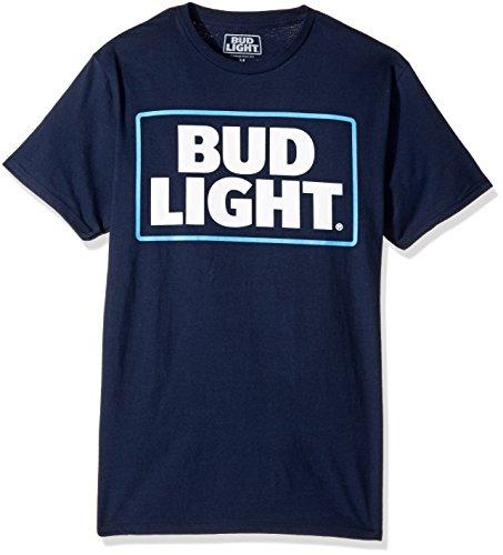 Anheuser-Busch Men's Budweiser Short-Sleeve Graphic T-Shirt, Navy, Large (Shirt Beer Mens)