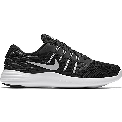 Nike Women's Lunarstelos Black/Mtllc Slvr/Anthrct/White Running Shoe 8 Women (Nike Womens Core Mesh)