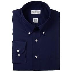 Van Heusen Men's Twill Dress Shirt, Navy, XX-Large