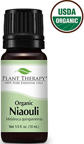 USDA Certified Organic Niaouli Essential Oil. 10 ml (1/3 oz). 100% Pure, Undiluted, Therapeutic Grade.