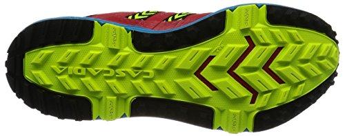 Brooks Cascadia 12, Scarpe da Corsa Uomo Multicolore (Highriskred/Black/Vividblue)