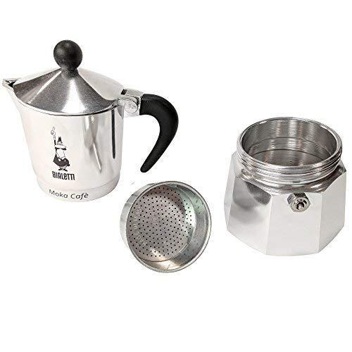 Bialetti Break para Cafetera Espresso 3 Tazas, Aluminio, Negro/Plata, 13 x 9 x 17 cm