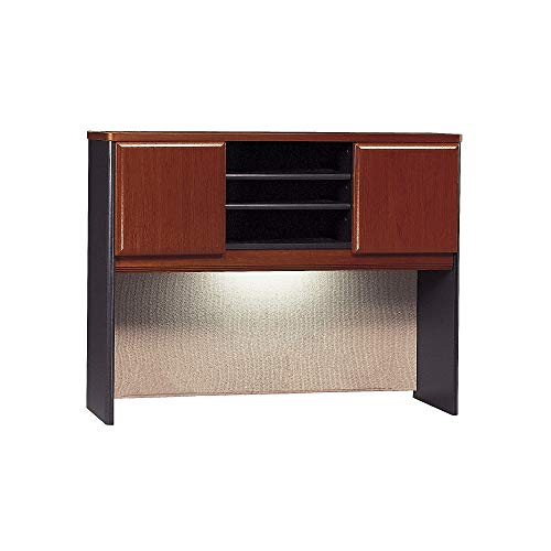 Bush Business Furniture Series A Collection 48W Hutch in Hansen Cherry/Galaxy