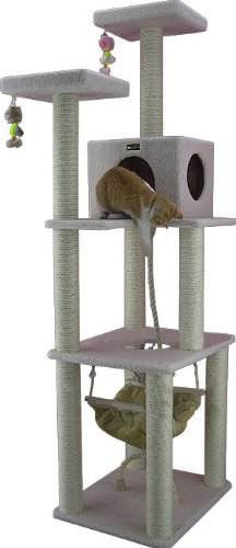 Armarkat Cat tree Furniture Condo, Height -70-Inch to 75-Inch 41Lw1fFpV7L