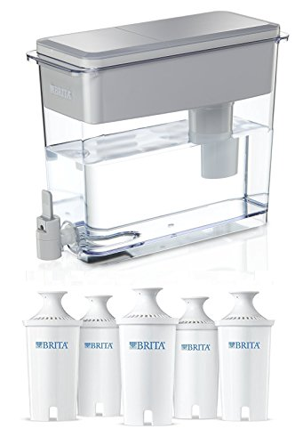 BRITA UltraMax Water Filter Dispenser, White, 18 Cup with...
