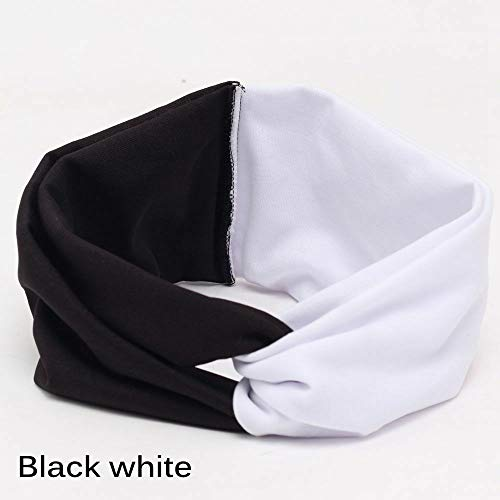 Bow Turban Stretch Hairbands Yoga Head Wrap Girls Headwear Twist Headband (Color - ()