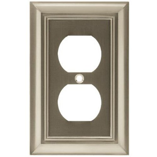 Liberty Hardware W10086-SN-U Single Duplex Architectural Collection, Satin Nickel