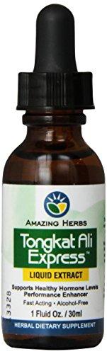 Amazing Herbs Tongkat Ali Liquid Extract, 1 Fluid Ounce (Best Herb Tongkat Ali)