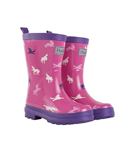 Hatley Girls' Toddler Printed Rain Boots, Unicorn Silhouettes, 7 US Child