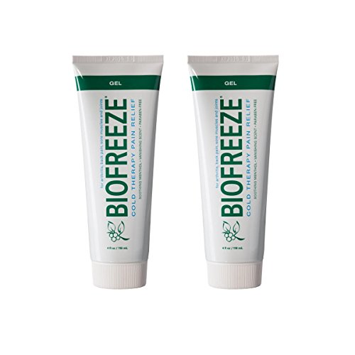 Biofreeze Pain Relief Gel, 4 oz. Tube, Pack of 2 (Biofreeze 4 Ounce Tube)