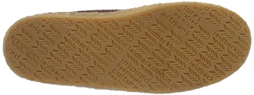 Laidback London Damen Argo Mokassin Stiefel Rot (Burgundy Suede)