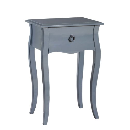 Gallerie Décor Lido Single Drawer Accent Cabinet, Grey
