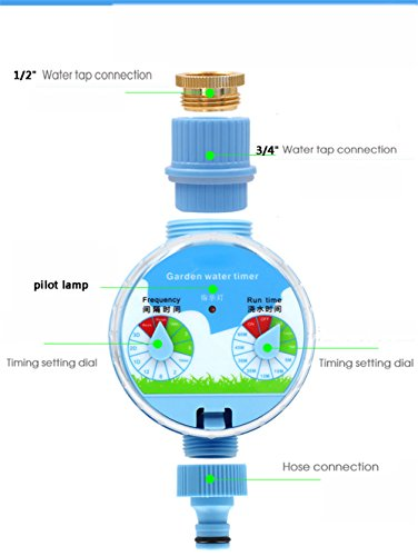 PEI Automatic Water Timer Programmable Hose Faucet Timer Outdoor Garden Irrigation Controller