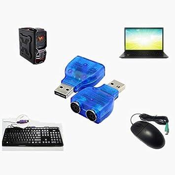 1Pcs USB Macho a Dual Ps2 Hembra Adaptador Convertidor Uso para Teclado Ratón Conector Convertidor Adaptador de Ratón Plug & Play: Amazon.es: Electrónica