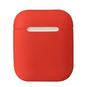 Funda de silicona para auriculares Damonlight Airpods Funda de silicona para auriculares inalámbricos Apple(Rojo): Amazon.es: Electrónica
