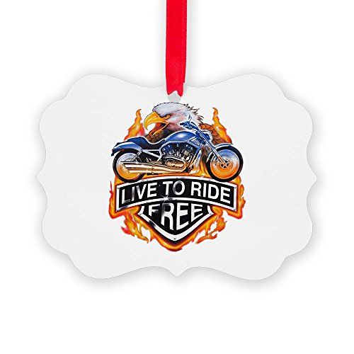 Picture Ornament Live To Ride Free Eagle Motorcycle