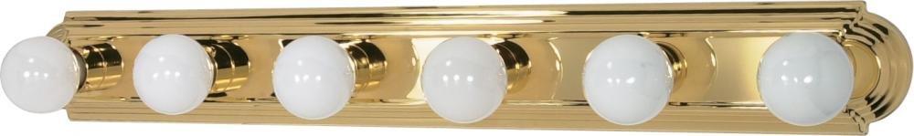 Nuvo Gothamシャンデリア 60/310 1 B002OMFRI2 Polished Brass / Alabaster Glass|6Lt バニティーストラップ Polished Brass / Alabaster Glass